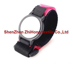Adjustable Hook And Loop Fastener Straps / Nylon Anyaman Wrist Watch Straps